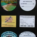 Double Sided Lube Labels